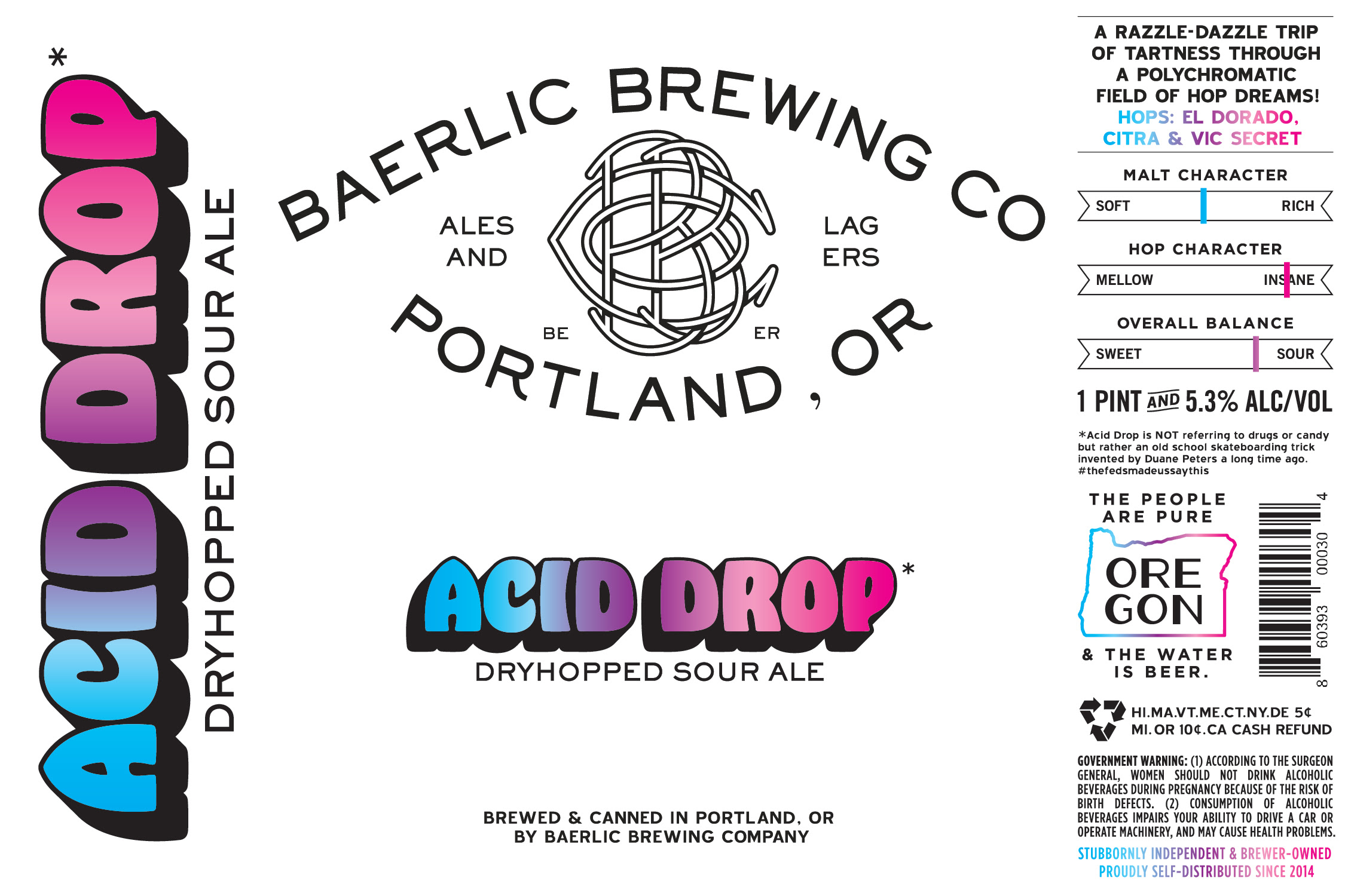 Baerlic Brewing Acid Drop Dry-Hopped Sour