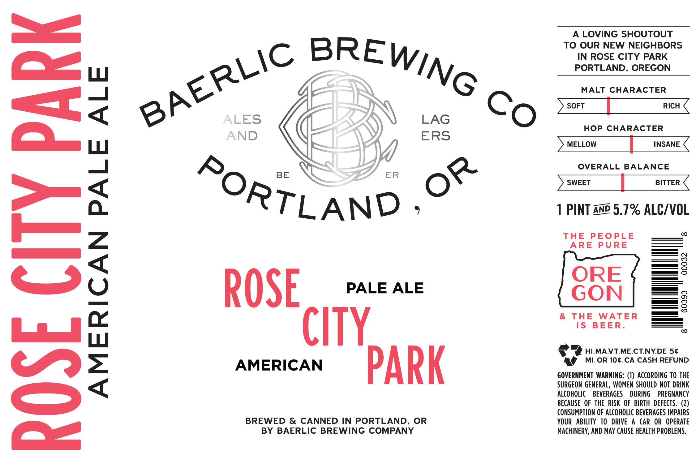 Baerlic Brewing Rose City Park Pale Ale