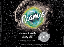Ecliptic Brewing Cosmos Coconut & Vanilla Hazy IPA Label