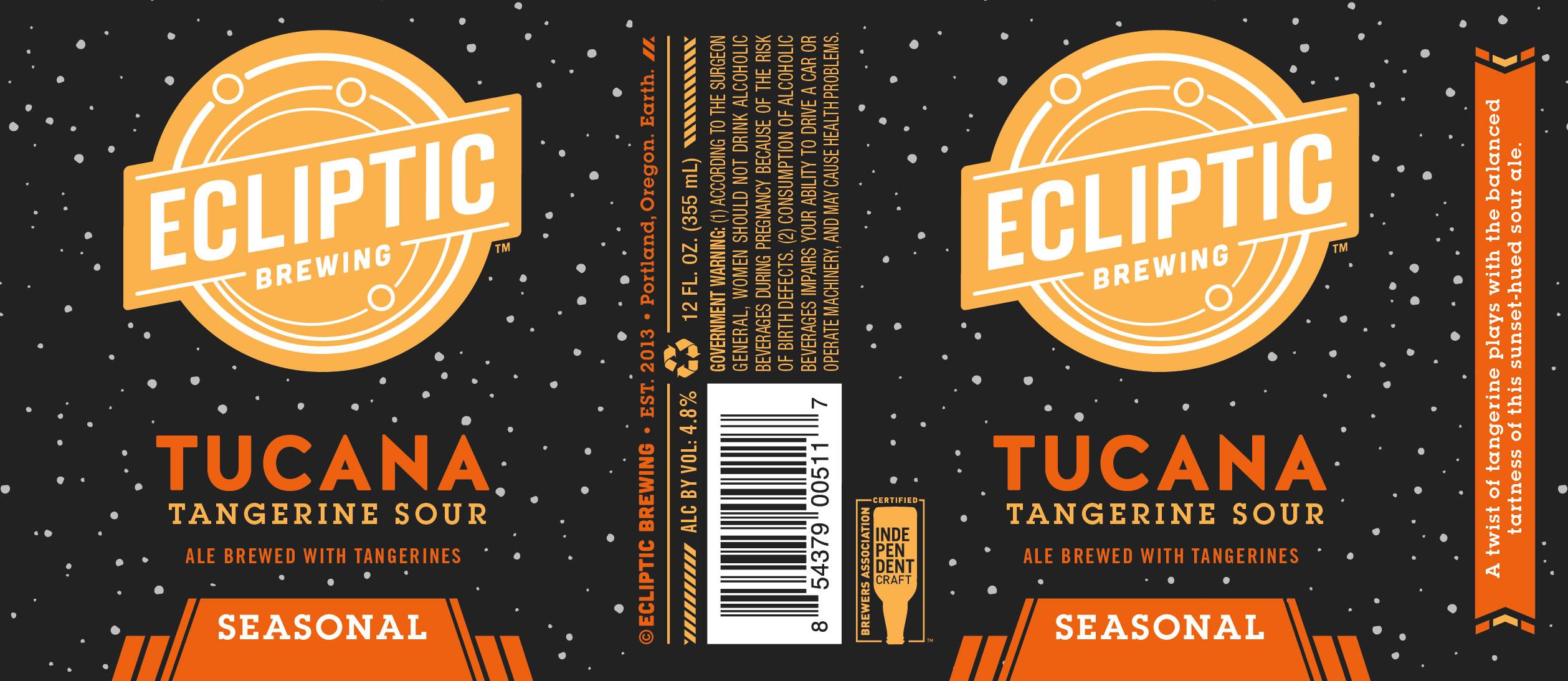 Ecliptic Brewing Tucana Tangerine Sour Ale Label