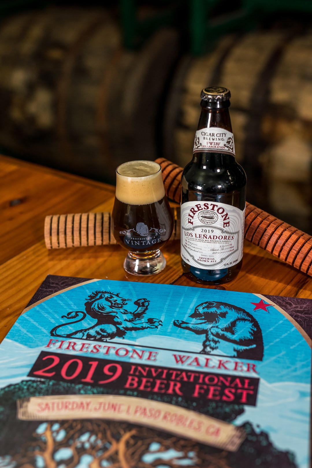 Firestone Walker and Cigar City collaborate on Los Leñadores for the 2019 Firestone Walker Invitational Beer Fest. (image courtesy of Firestone Walker Brewing)