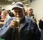 Fred Eckhardt enjoing a beer at FredFest 2010. (photo by Angelo De Ieso)