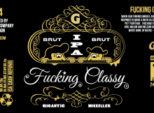Gigantic Brewing + Mikkeller Beer Fucking Classy Brut IPA Label