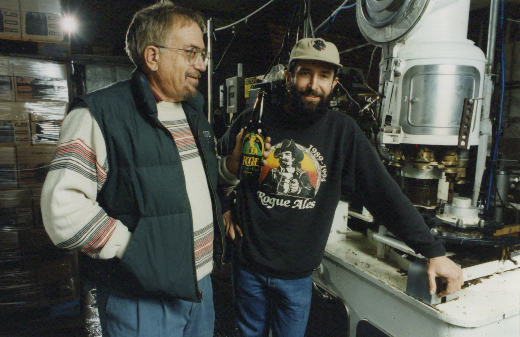John Maier and Jack Joyce circa 1994. (image courtesy of Rogue Ales)