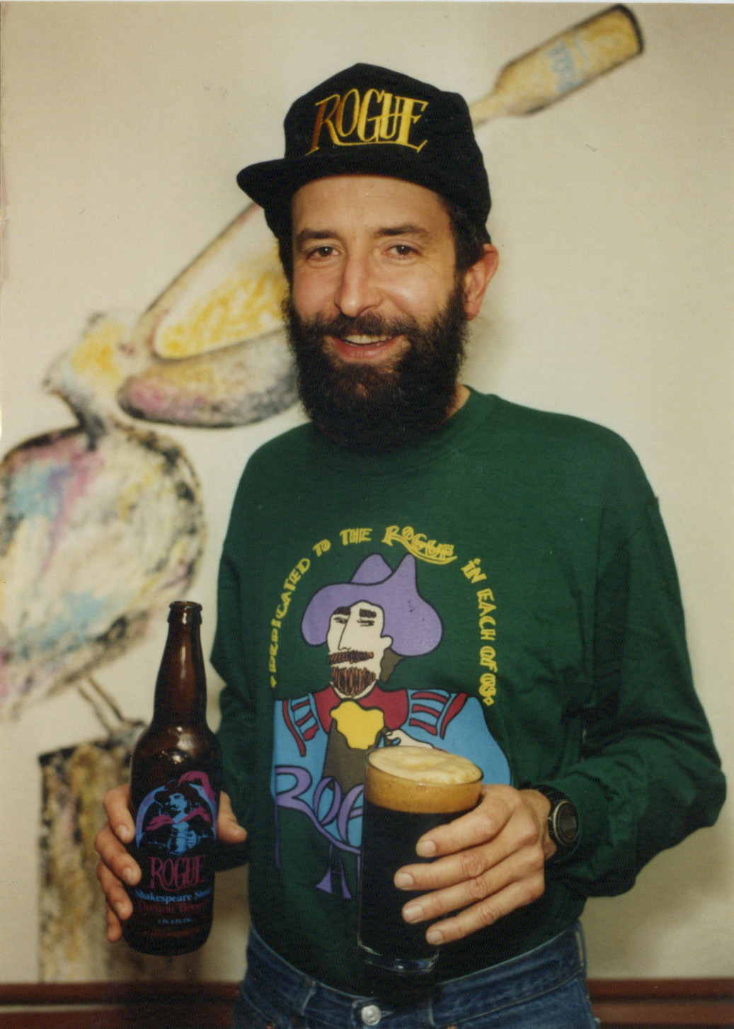 John Maier in Rogue gear. (image courtesy of Rogue Ales)