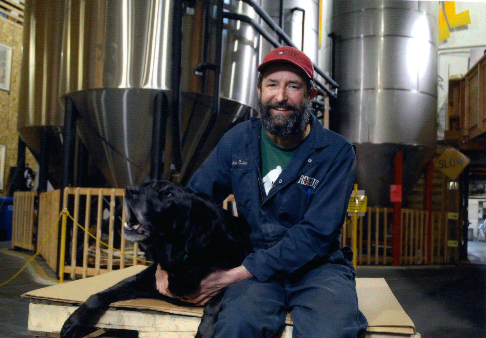 John Maier in the brewery. (image courtesy of Rogue Ales)