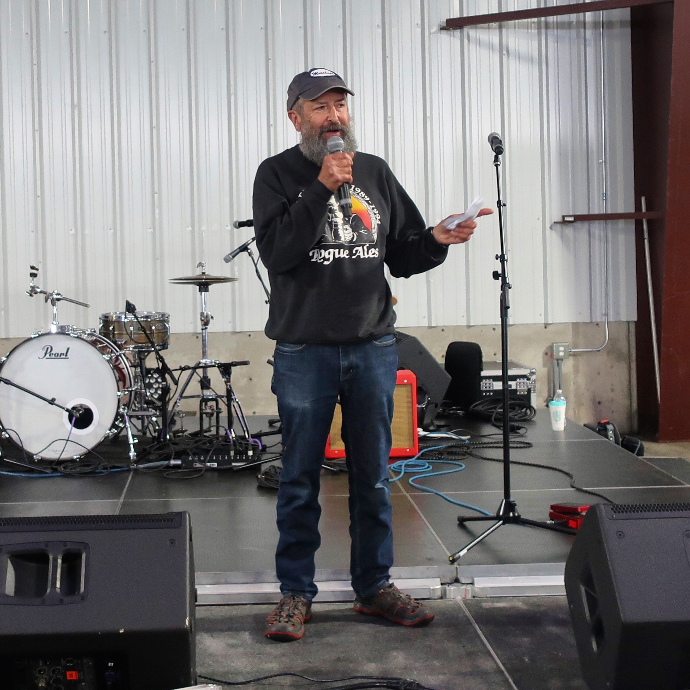 John Maier revealing that he will be retiring from Rogue Ales on July 27, 2019.