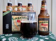 North Coast Brewing Laguna Baja Mexican-Style Dark Lager, a perfect beer for Cinco de Mayo.