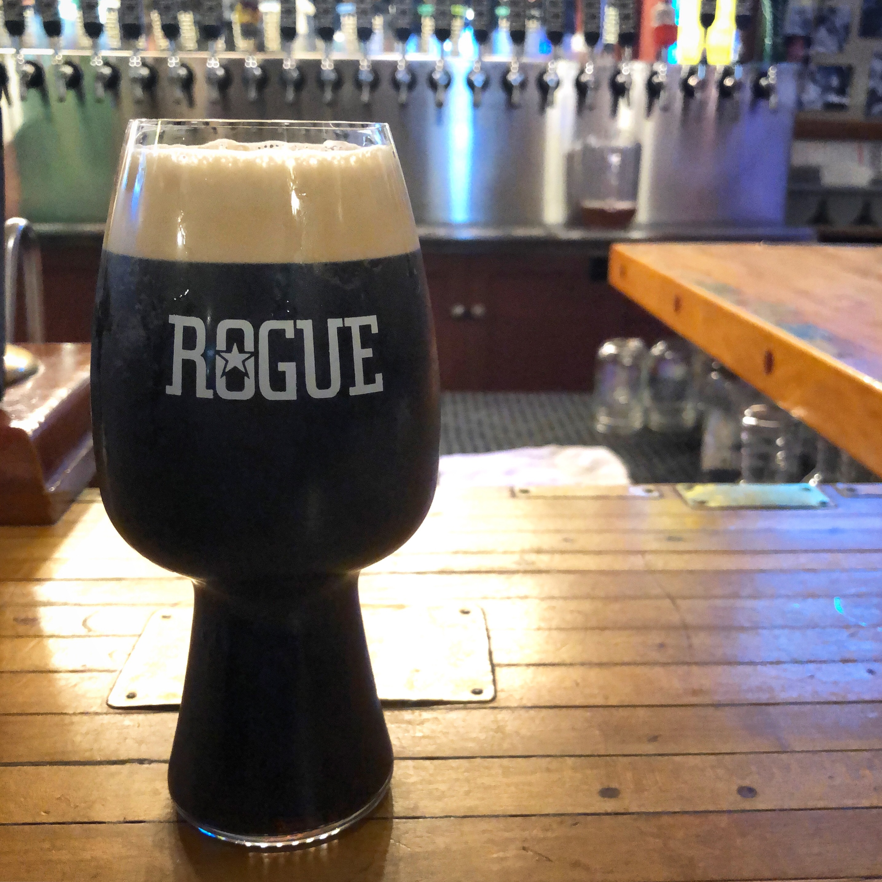 On the eve of the John Maier Coastal Brew Fest we visited the Rogue Ales on the Bayfront for a few pints. Cannot go wrong with a Rogue Shakespeare Stout!