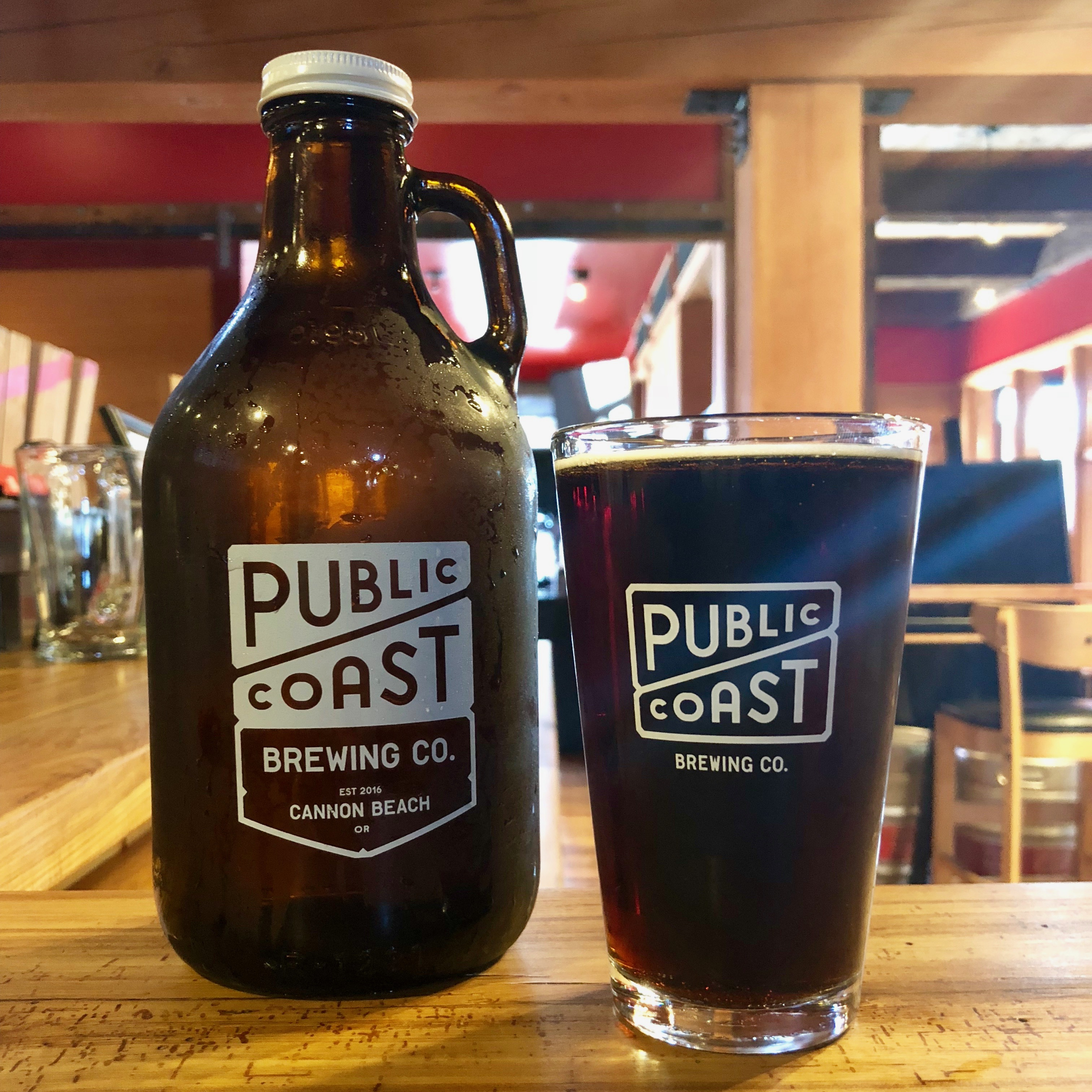 Public Coast Brewing offers its beers to go in growlers and crowlers.