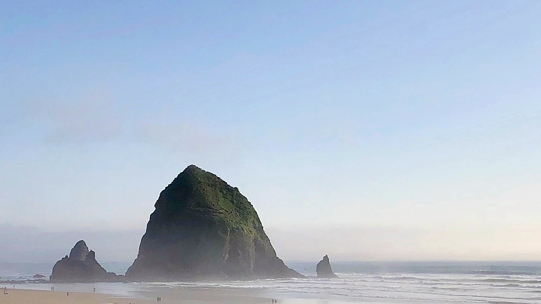 The iconic Haystack Rack in Cannon Beach.