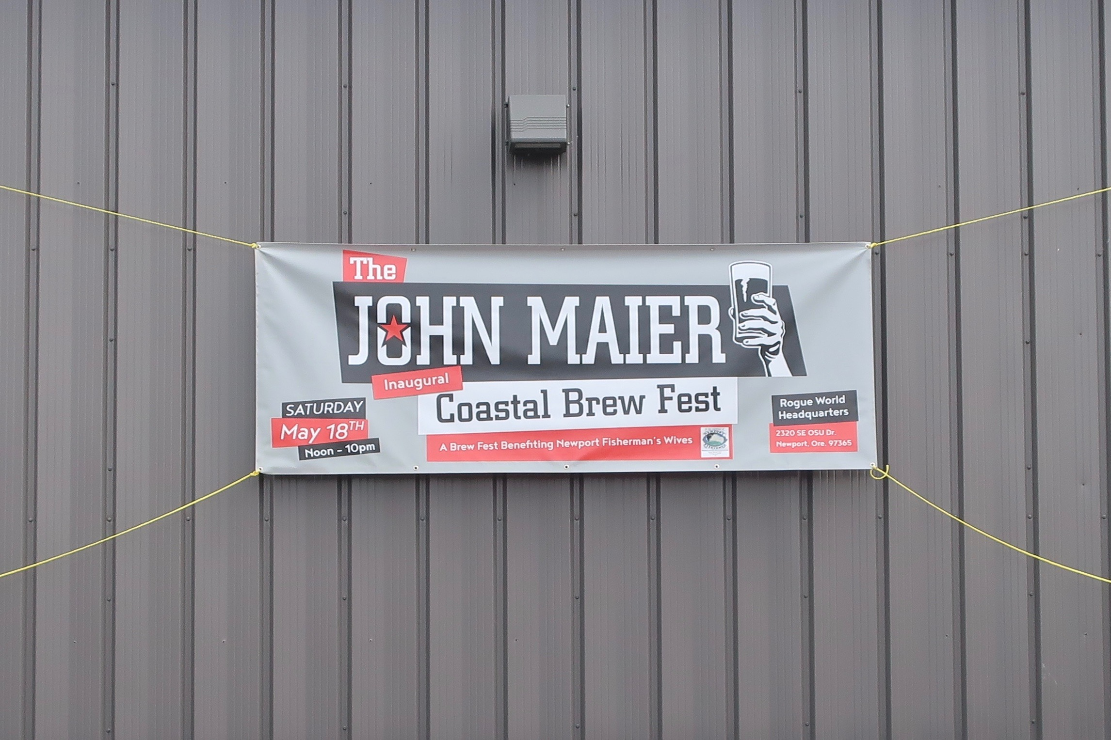 The inaugural John Maier Coastal Brew Fest took place on May 18, 2019 in Newport, Oregon celebraing 30+ years of John Maier at Rogue Ales.