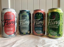 The lineup of Fling Craft Cocktails from Boulevard Beverage Co.