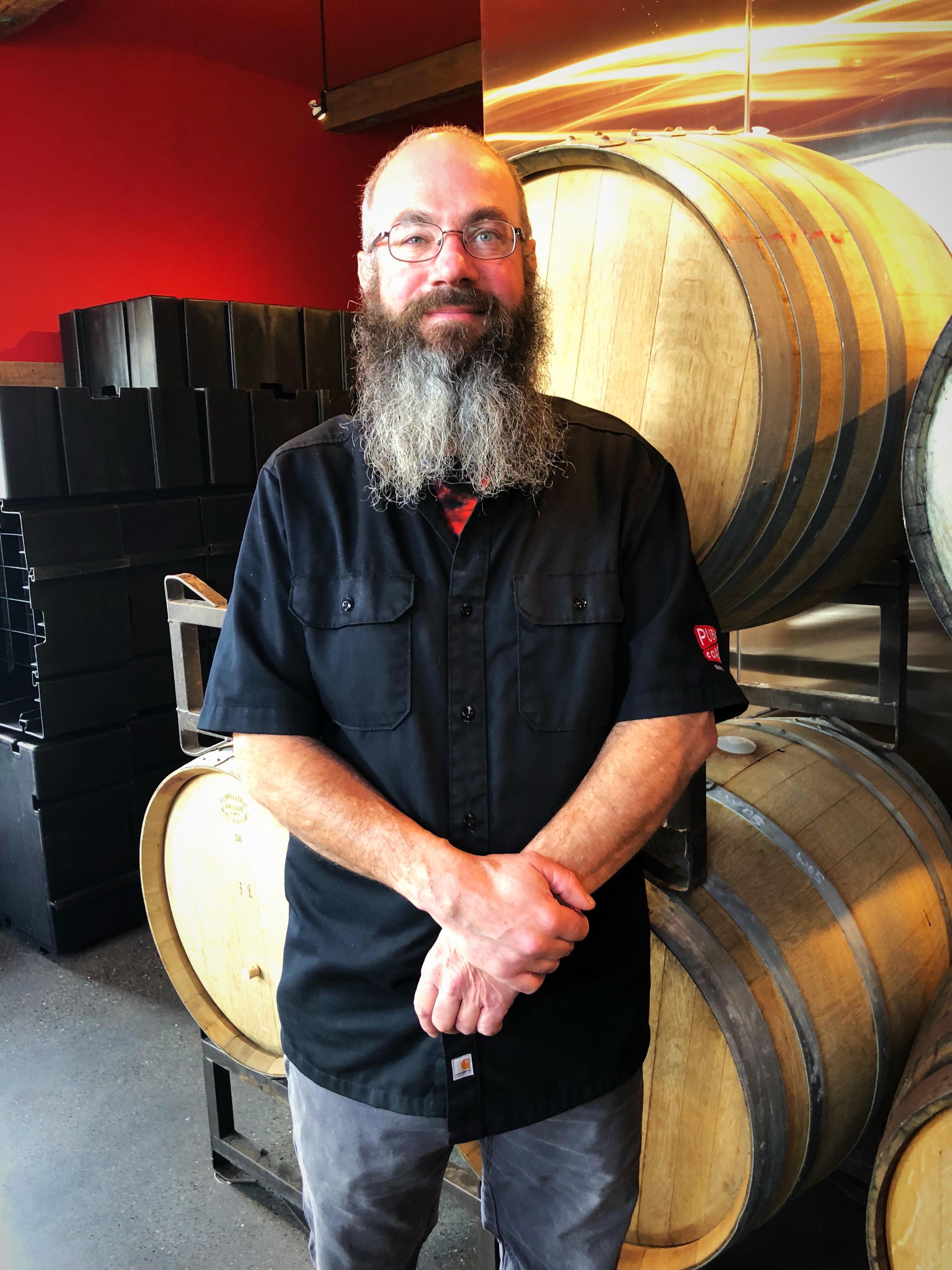 Will Leroux, head brewer at Public Coast Brewing.