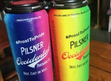image of Limited Edition Pride Pilsner Cans courtesy of Occidental Brewing