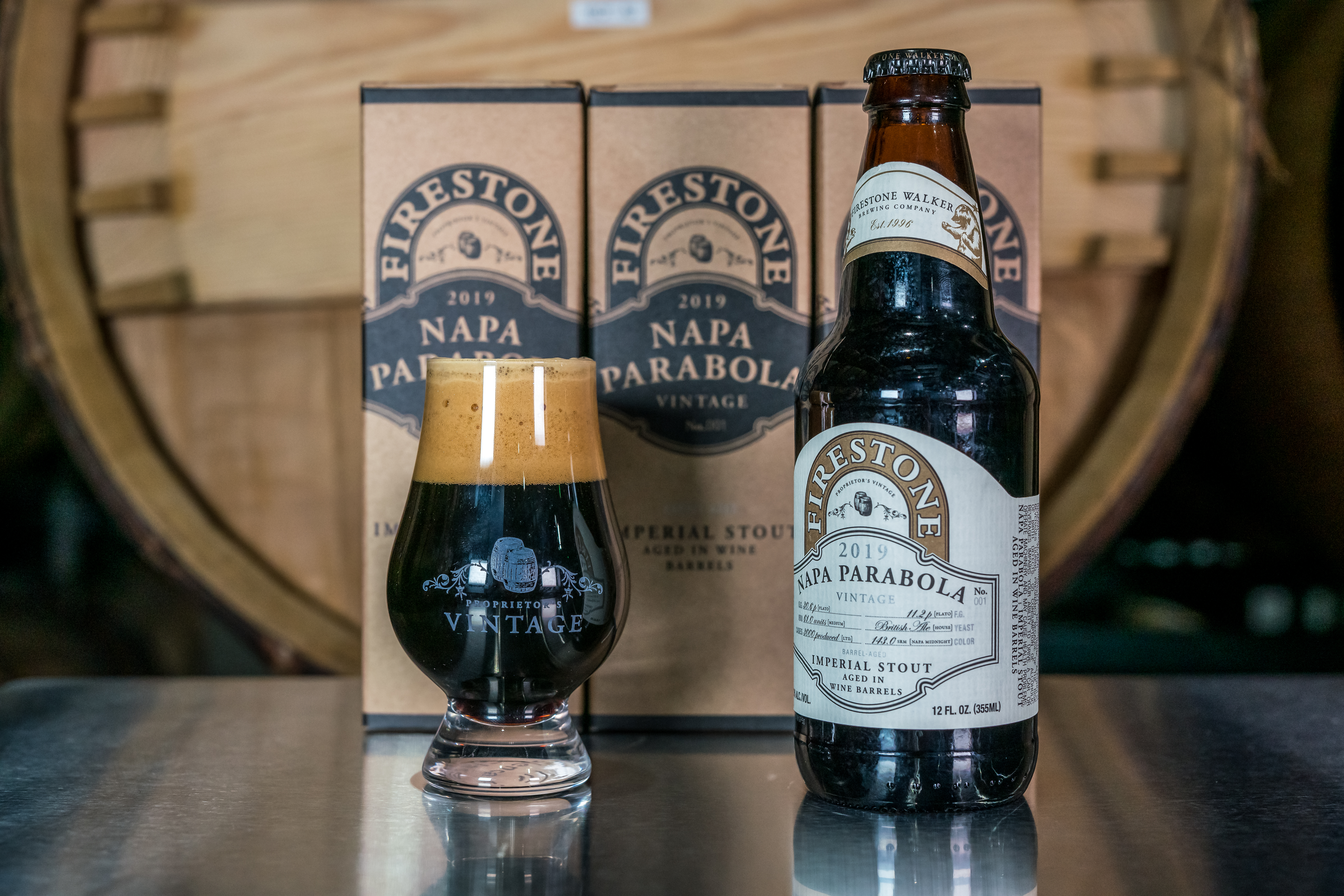 image of Napa Parabola with Box courtesy of Firestone Walker Brewing