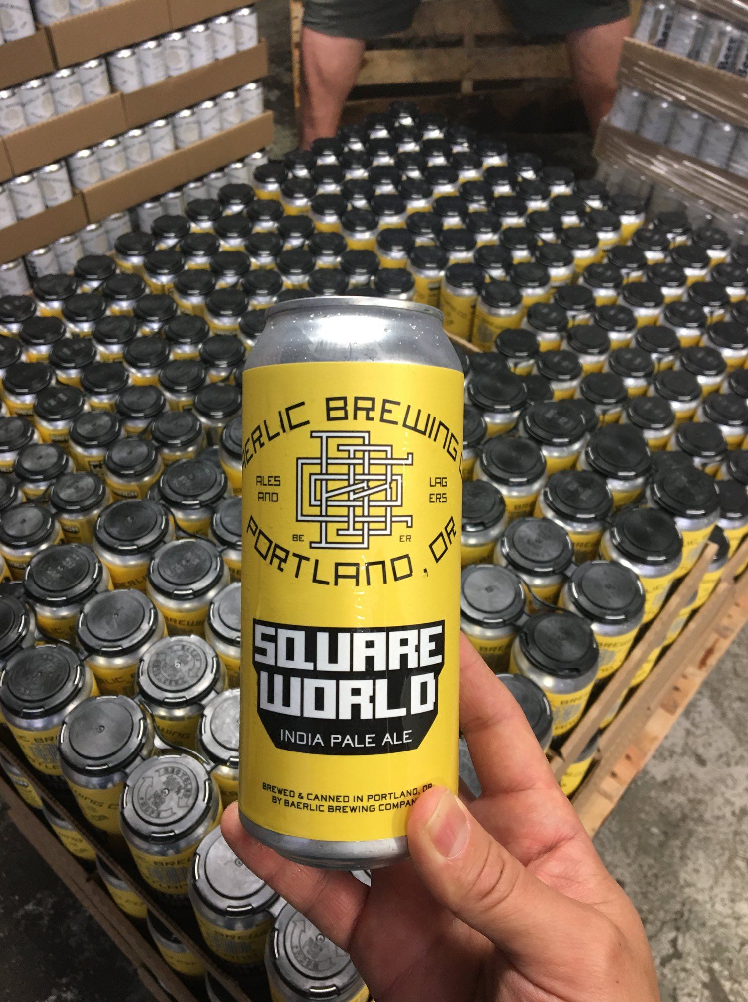 image of Square World IPA, a three-way collaboration from Baerlic Brewing, Ranch Pizza and World Foods Portland courtesy of World Foods Portland