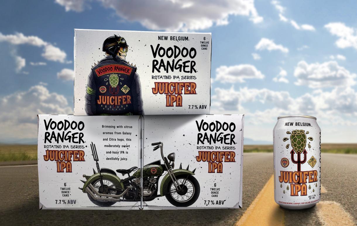 image of Voodooo Ranger Juicifer IPA courtesy of New Belgium Brewing