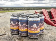 image of the 6-pack of Brasada Sunset Pale Ale courtesy of Worthy Brewing