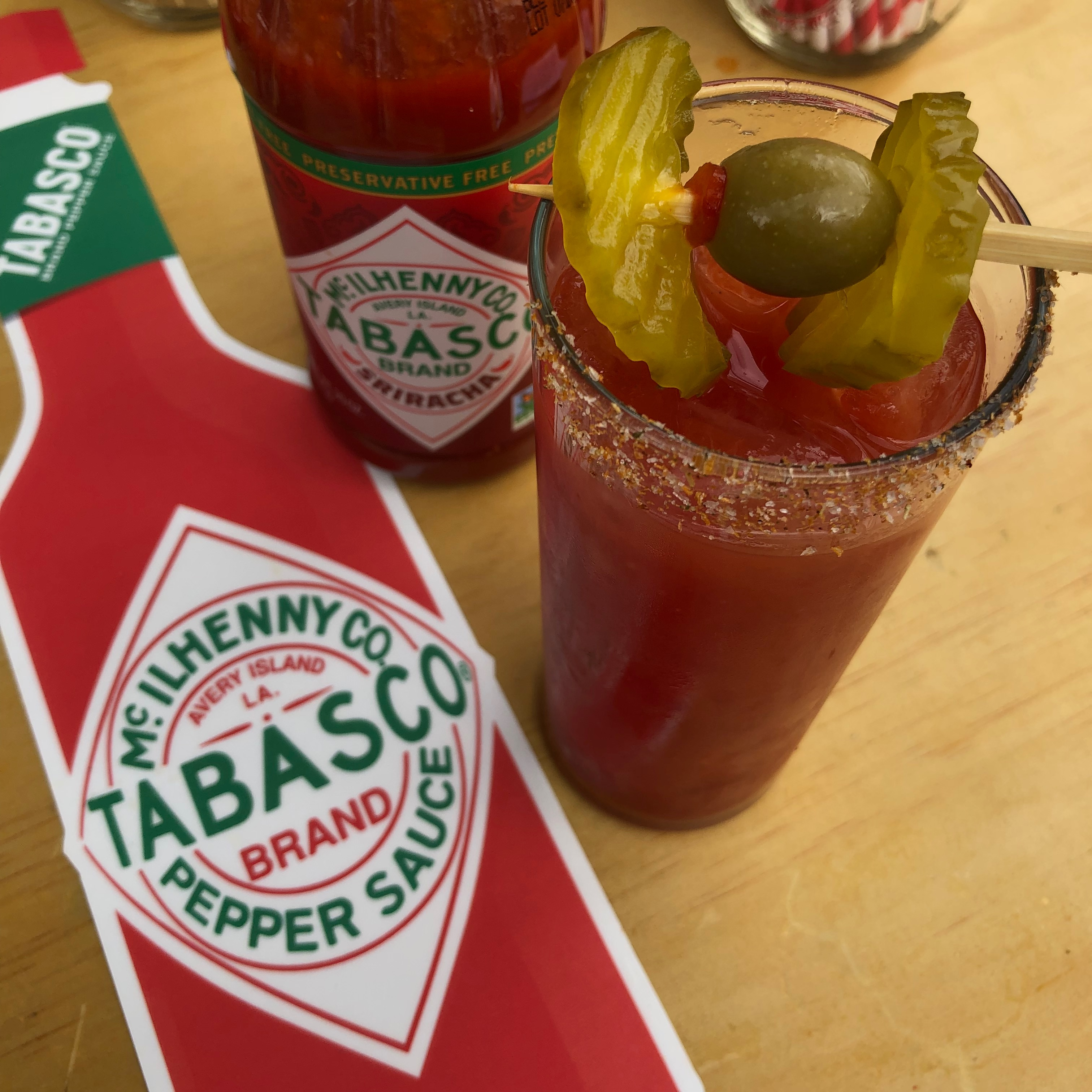 A Tabasco Bloody Mary at Brunch Village during Feast Portland 2018.