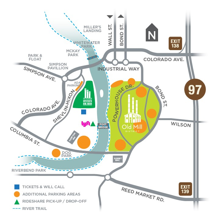 Bend Brewfest Map 2019