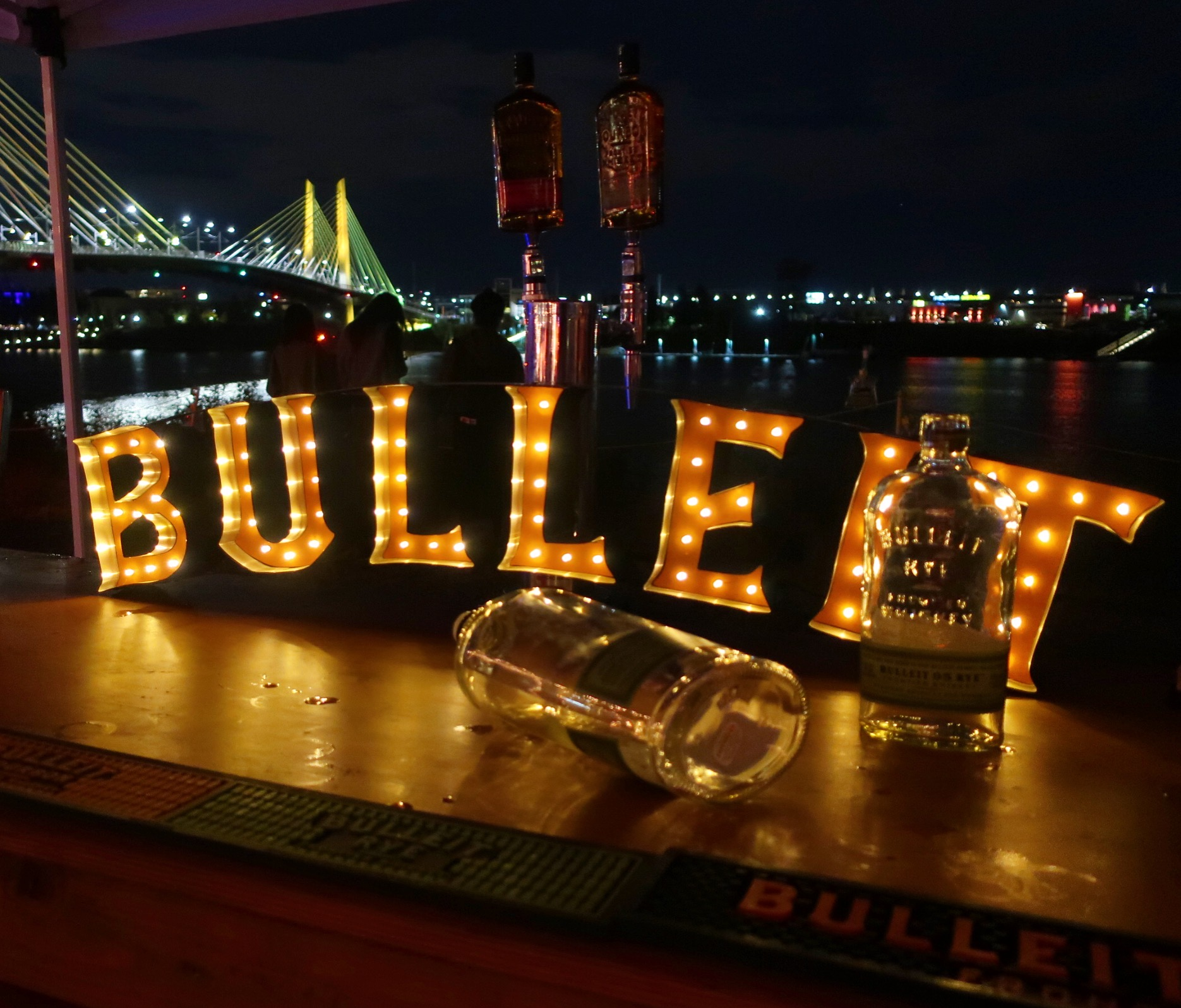 Bulleit Whiskey at Night Market during Feast Portland 2018.