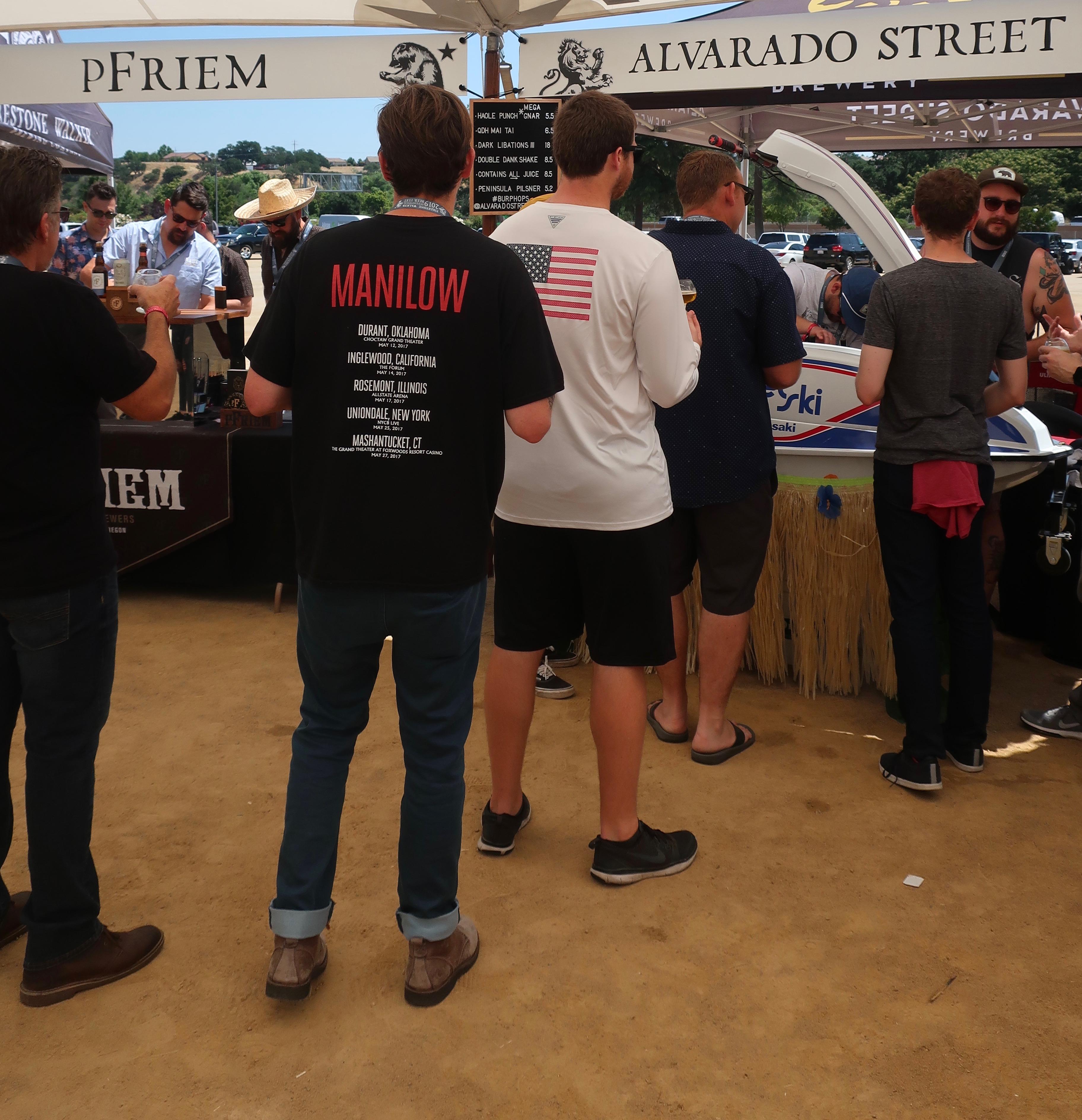 Even fans of Barry Manilow attend the 2019 Firestone Walker Invitational Beer Fest.
