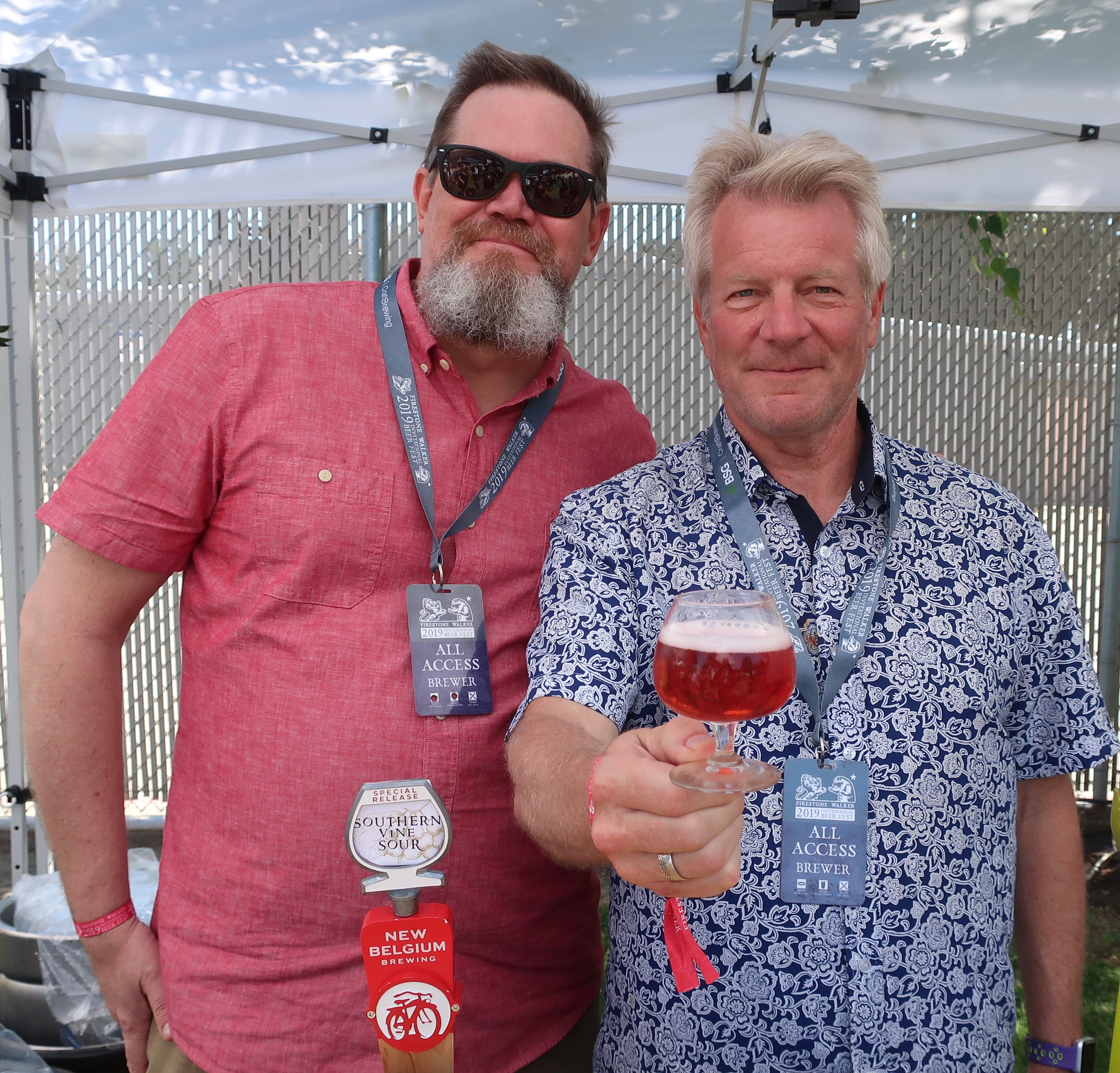 Joel Winn and Dick Cantwell pouring New Belgium beers at the 2019 Firestone Walker Invitational Beer Fest. Really enjoyed the Mural Aqua Fresca Cerveza.