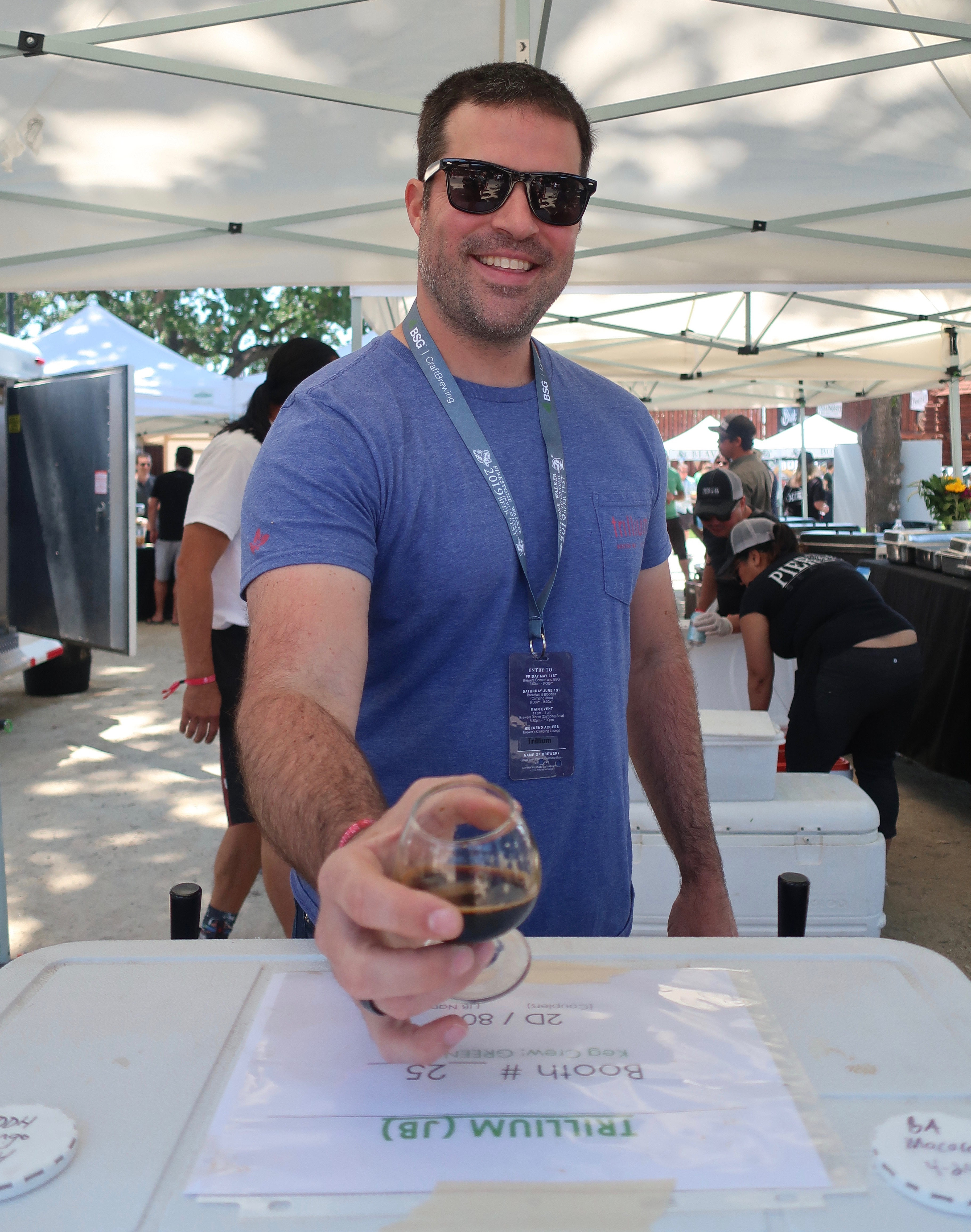 Trillium Brewery kept a consisten line all afternoon at the 2019 Firestone Walker Invitational Beer Fest as it poured a Barrel Aged Macaroon.