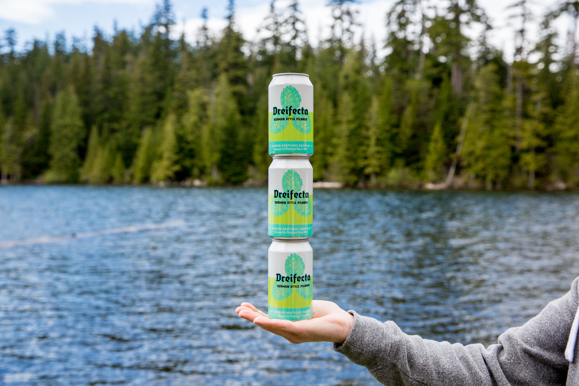 Widmer Brothers Brewing has a new summer seasonal with its Dreifecta, a German-Style Pilsner made with a special blend of three hops and three malts. (image courtesy of Widmer Brothers Brewing)