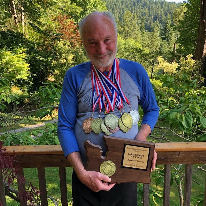 Wil Kemper from Chuckanut Brewery took home Large Brewery of the Year at the 2019 Washington Beer Awards. The brewery took home 5 Gold Medals, 1 Silver Medal and 3 Bronze Medals. (image courtesy of Chuckanut Brewery)