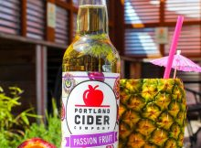 image of Passion Fruit Cider courtesy of Portland Cider Co.