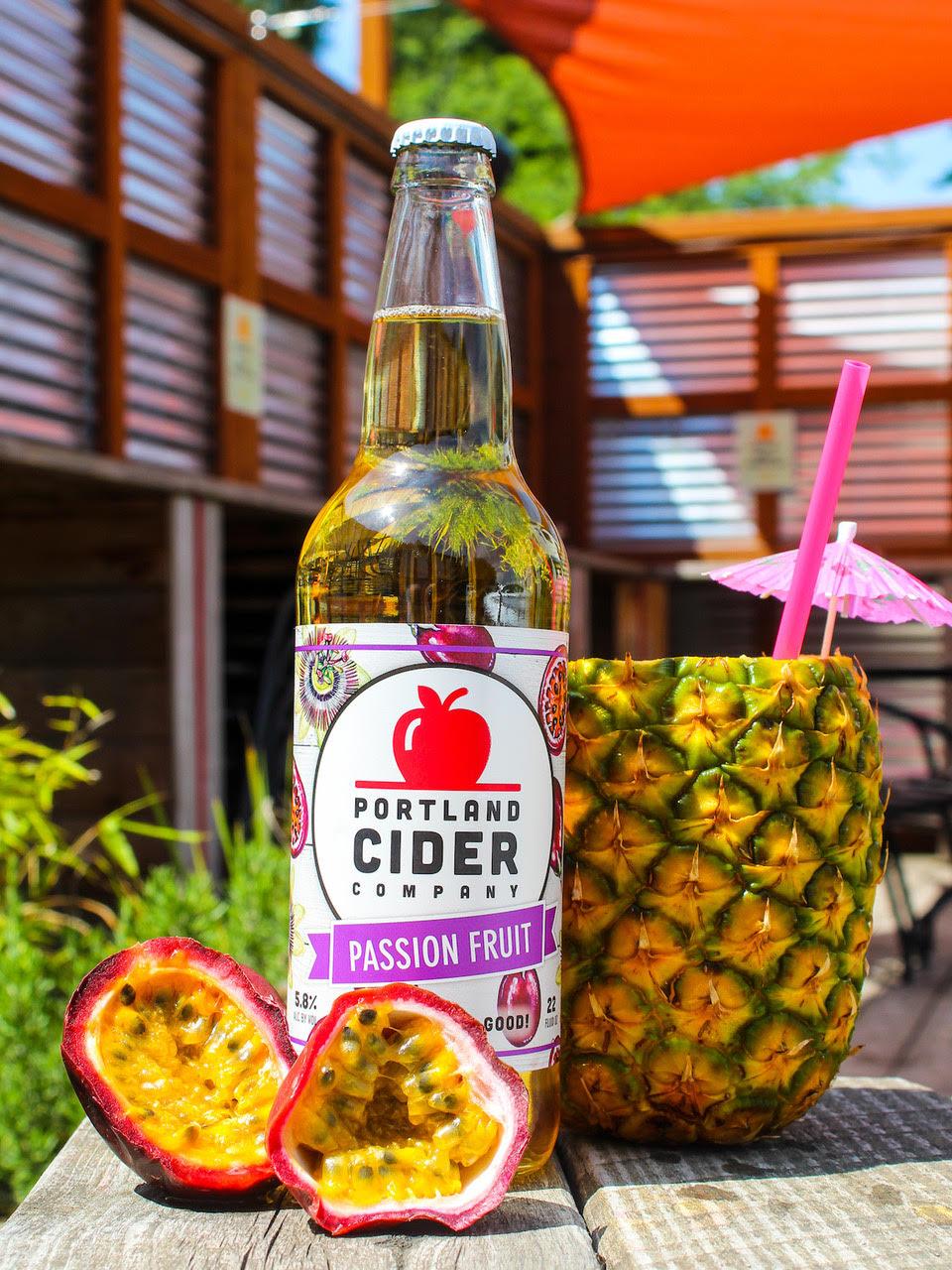 image of Passion Fruit Cider courtesy of Portland Cider Co.