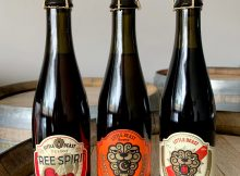 image of Tree Spirit, Country Wizard Brett Super Saison, and Midnight Riot courtesy of Little Beast Brewing