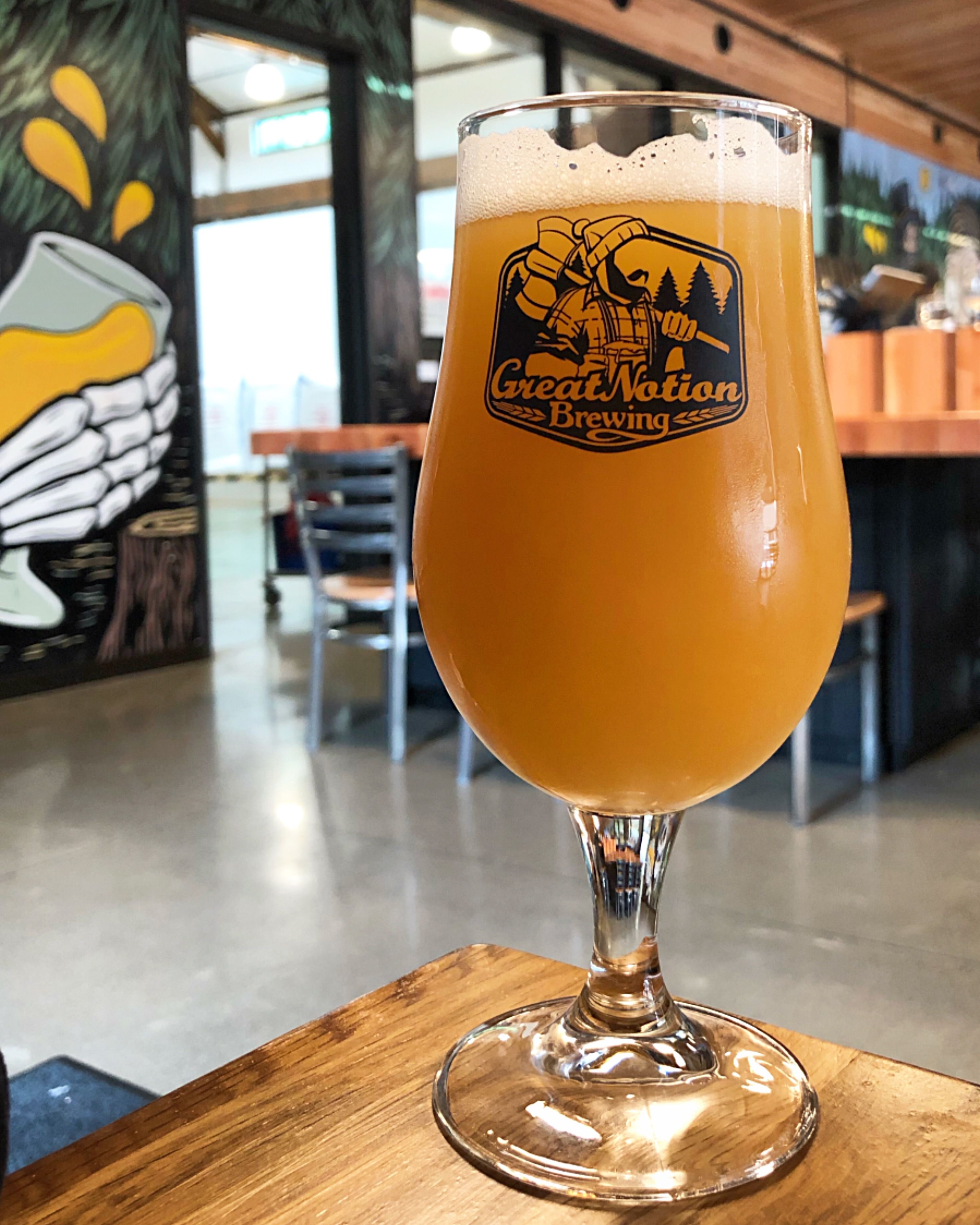 A Hazy IPA at Great Notion Brewing in Northwest Portland.