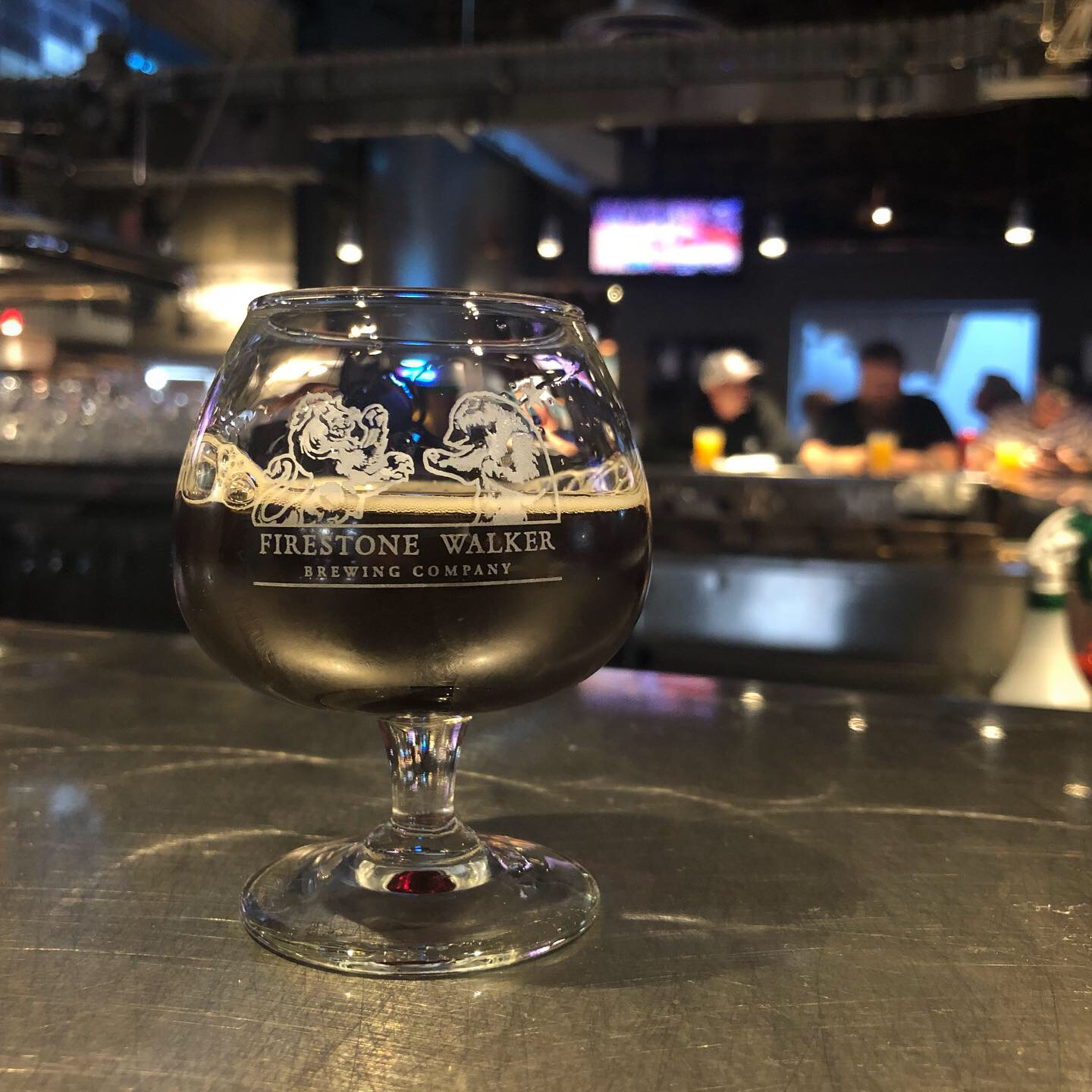 A draft pour of Firestone Walker Old Man Hattan at its brewery in Paso Robles, California.