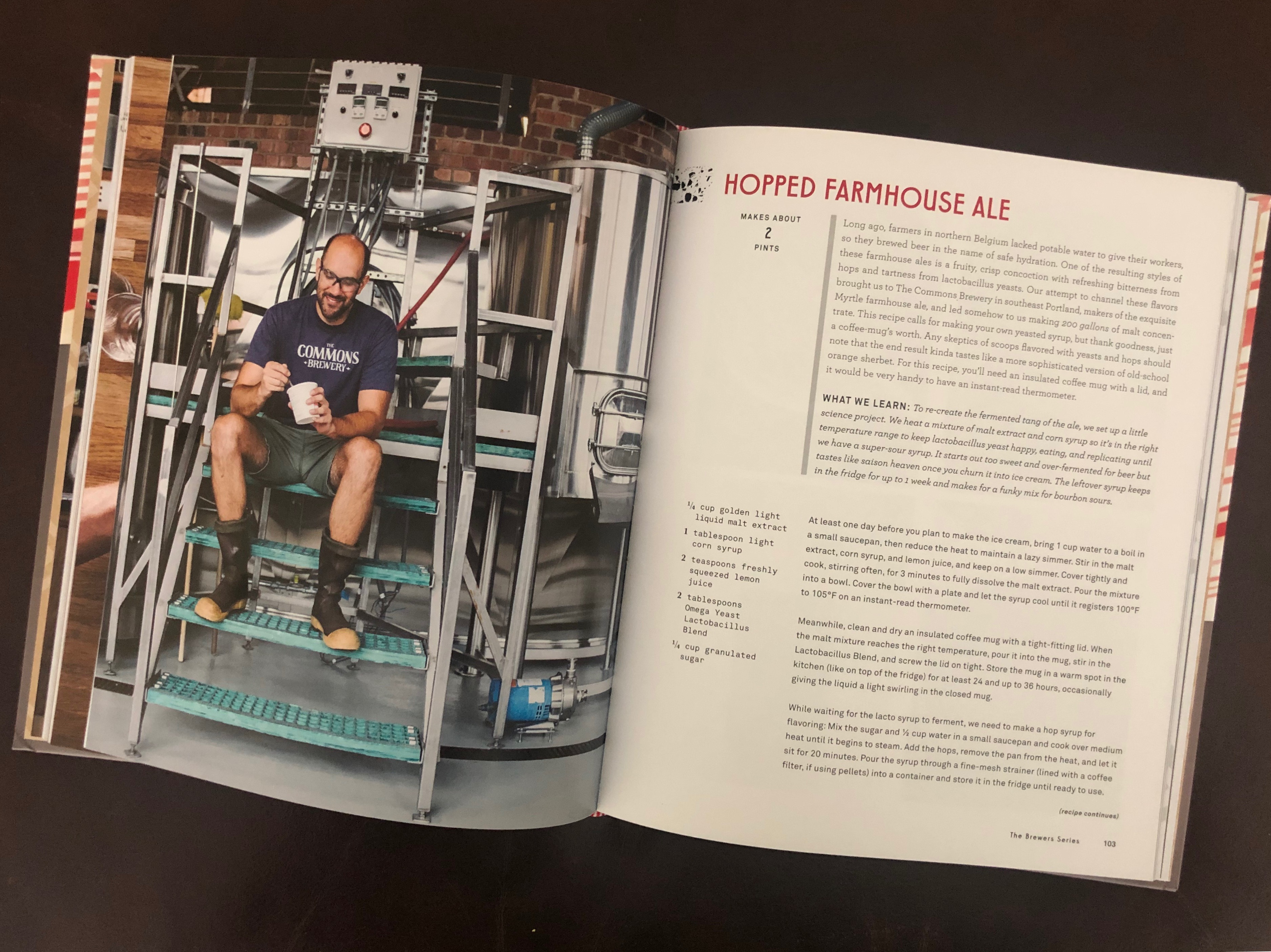 A picture of Josh Grgas of the shuttered The Commons Brewery in the new Salt & Straw Ice Cream Cookbook