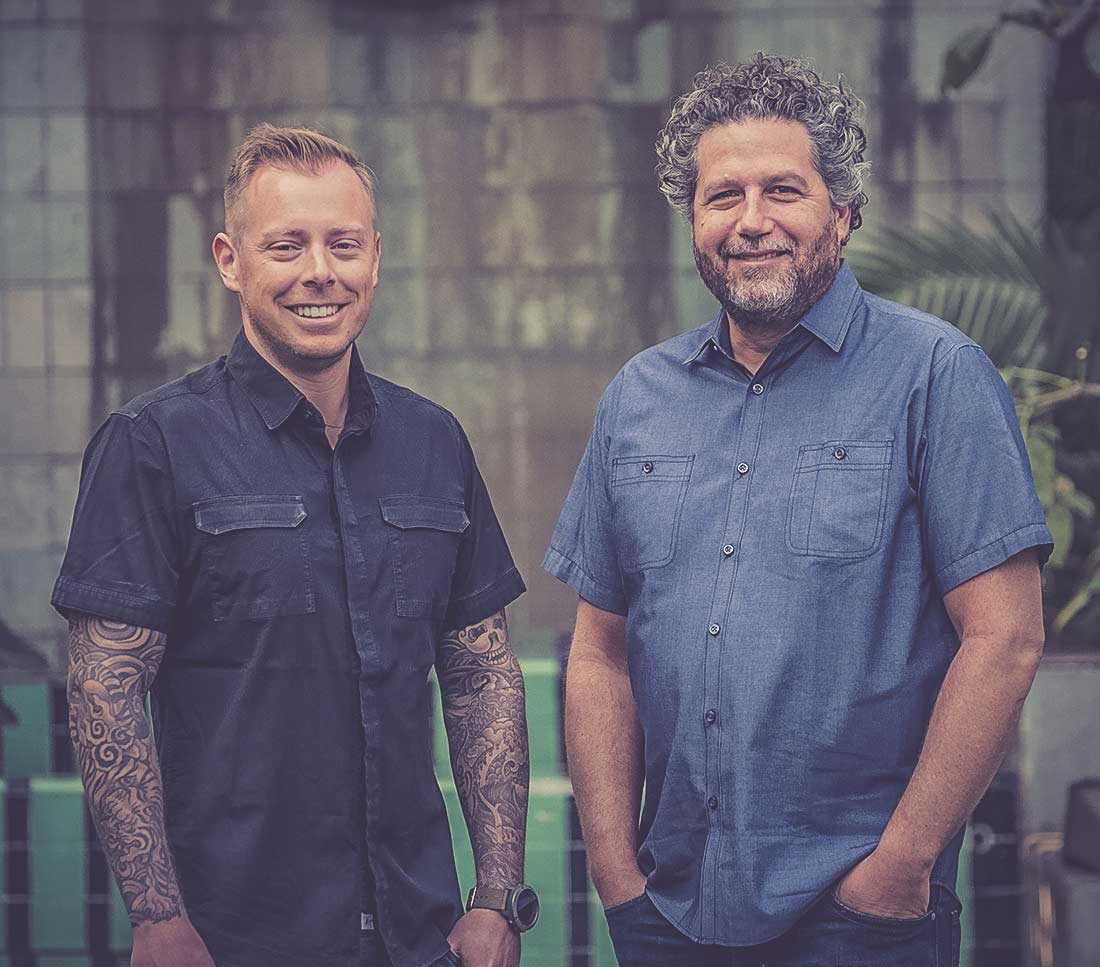 Co-founders of Suerte, Lance Sokol and Laurence Spiewak. (image courtesy of Suerte)