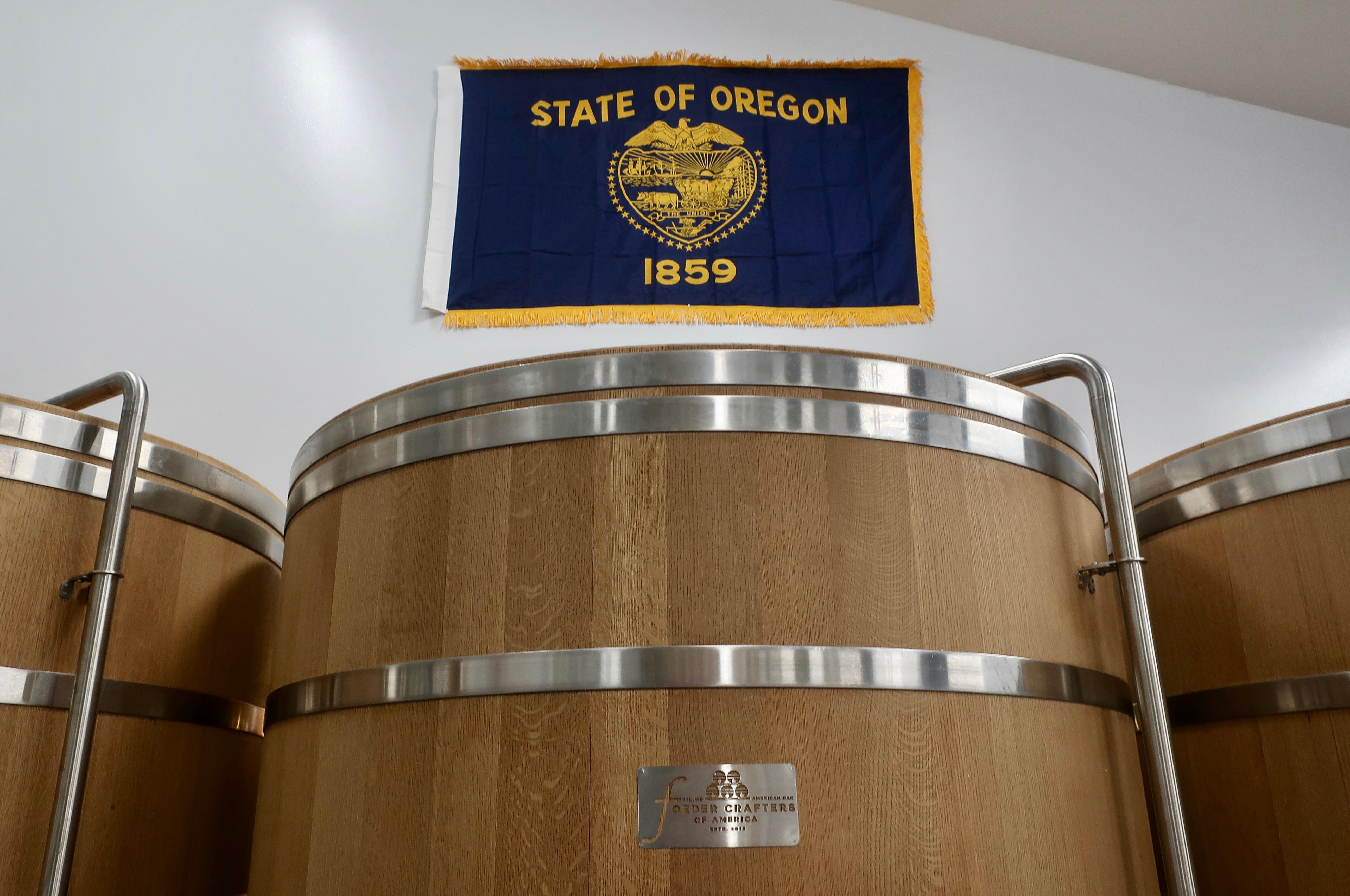 Foeders at Von Ebert Brewing - Glendoveer in Portland, Oregon.