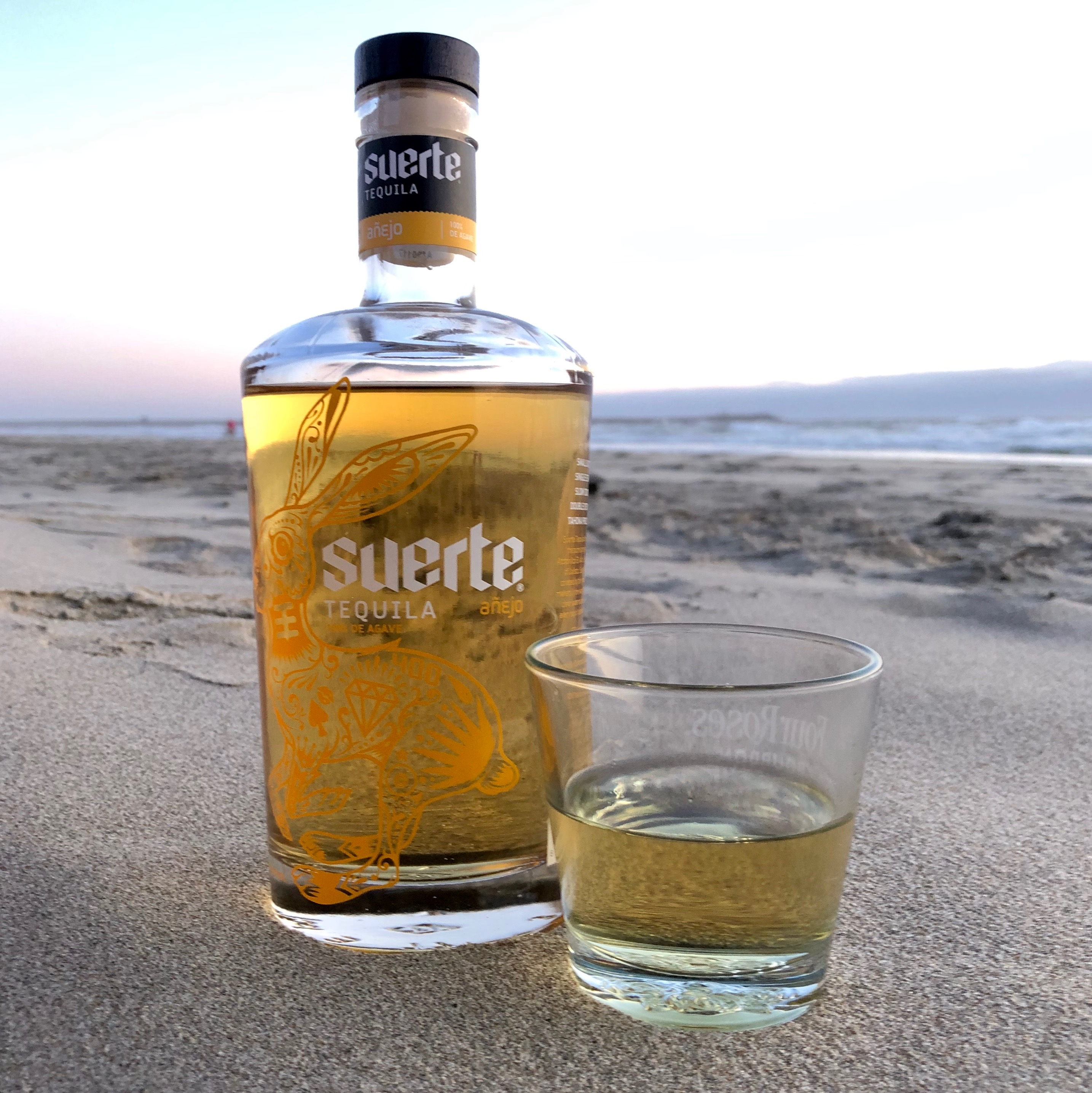 Suerte Anejo Tequila on the Oregon Coast.
