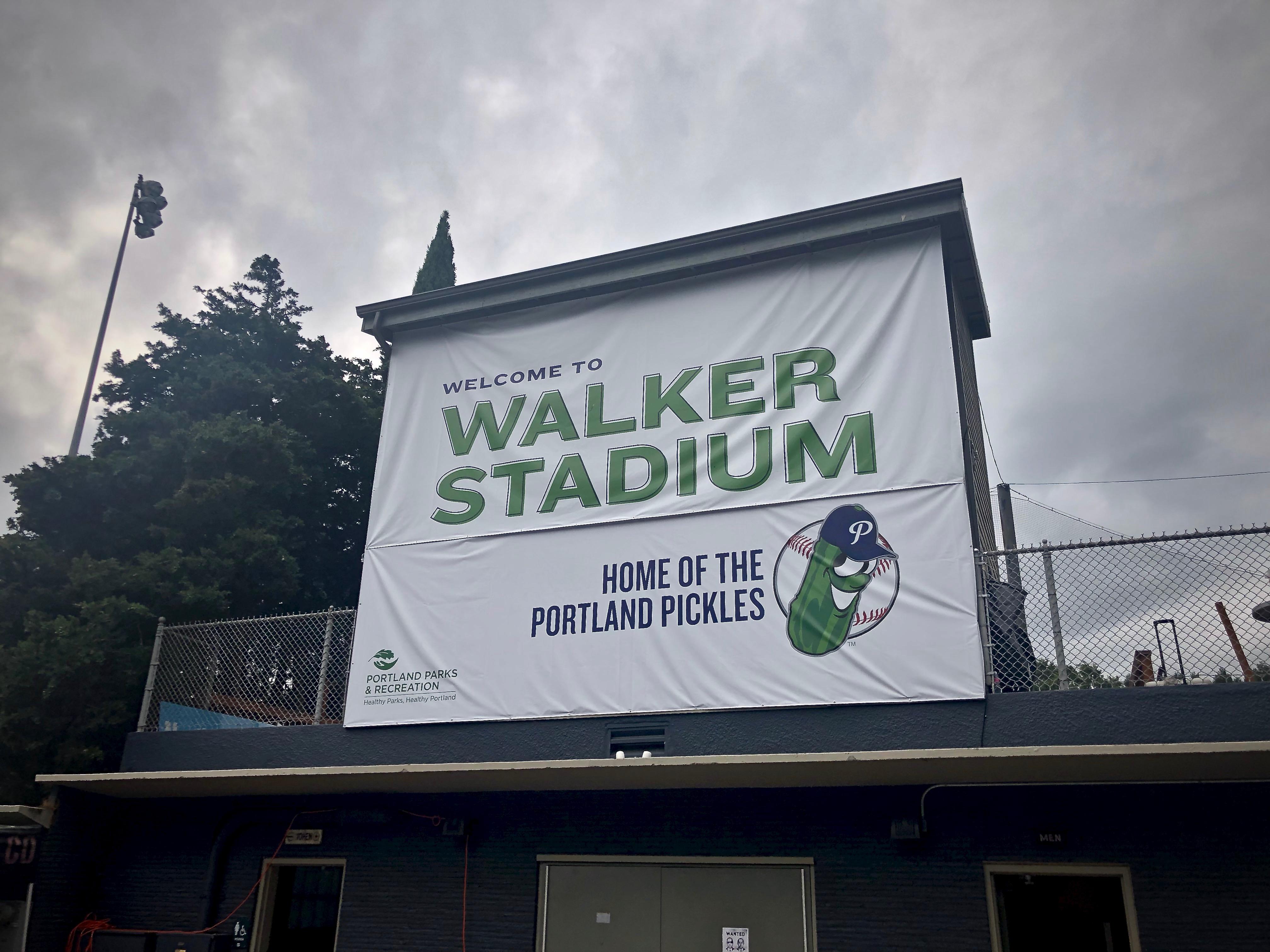 Walker Stadium, home of the Portland Pickles.
