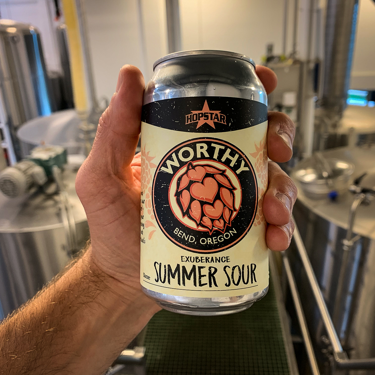 image of Exuberance Summer Sour courtesy of Worthy Brewing