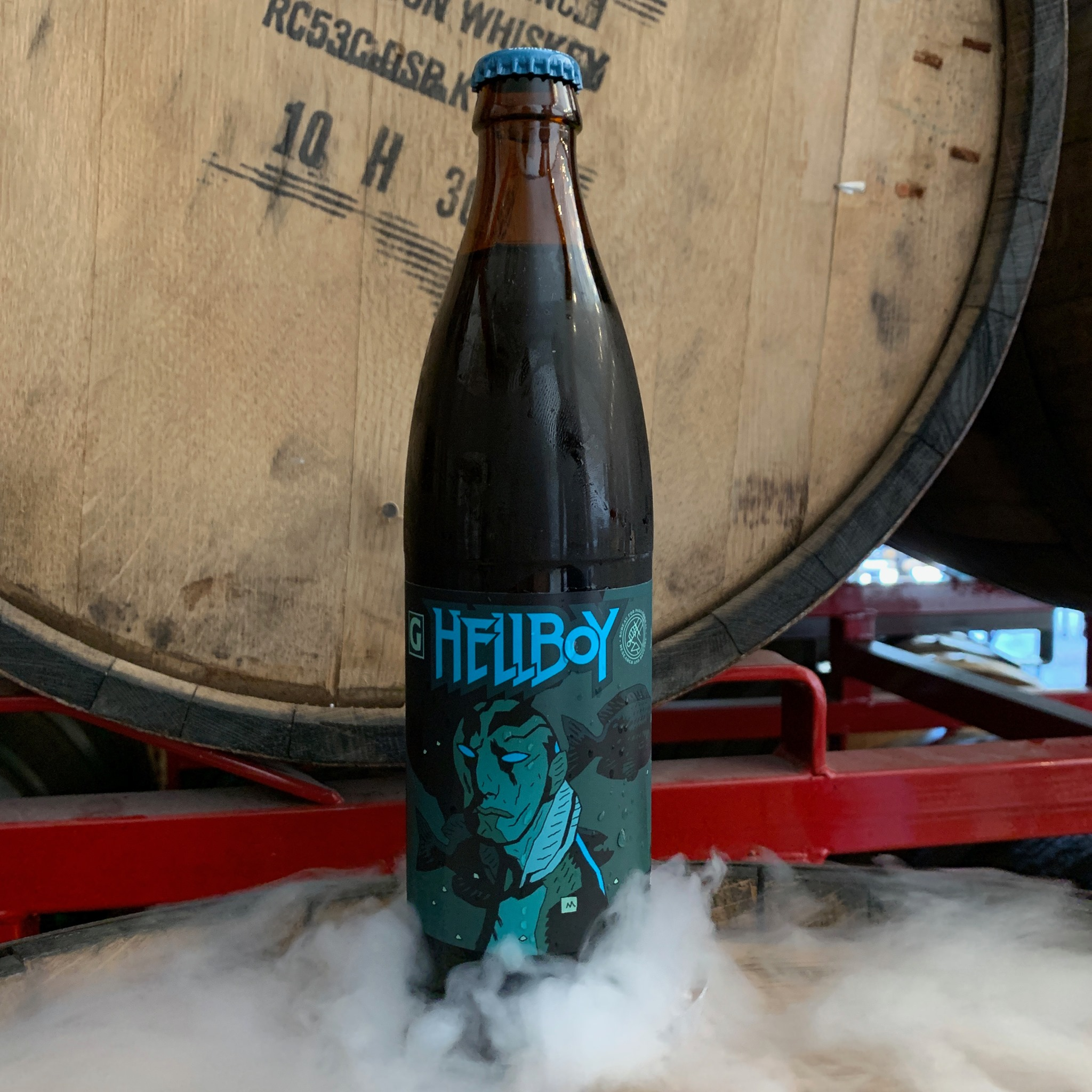 image of Hellboy Abe Sapien beer courtesy of Gigantic Brewing