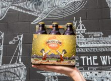image of Mothers of the Sun Raspberry Saison courtesy of Redhook Brewery