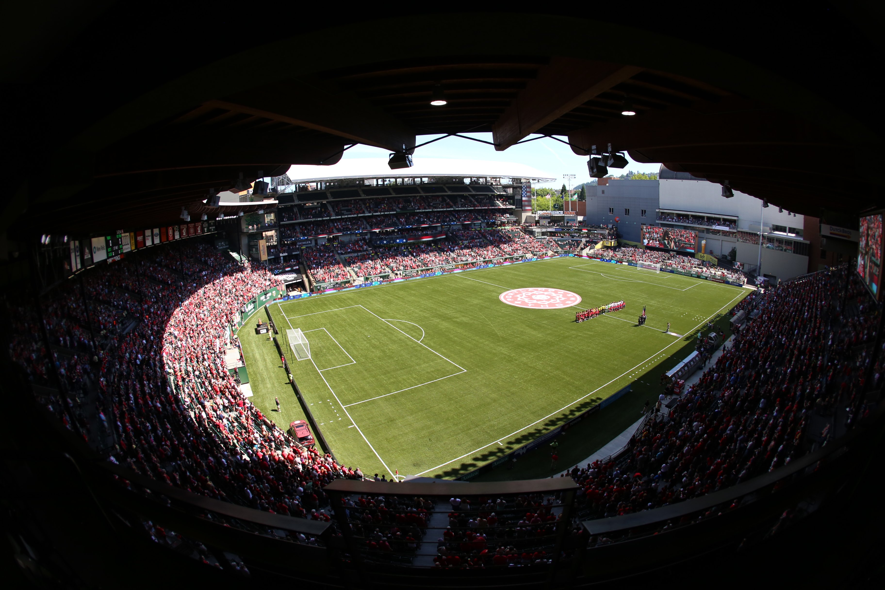 image of the Portland Thorns 2019 home opener courtesy of the Portland Thorns