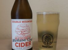 Double Mountain Wickson Crab Cider served in a BREWPUBLIC glass.