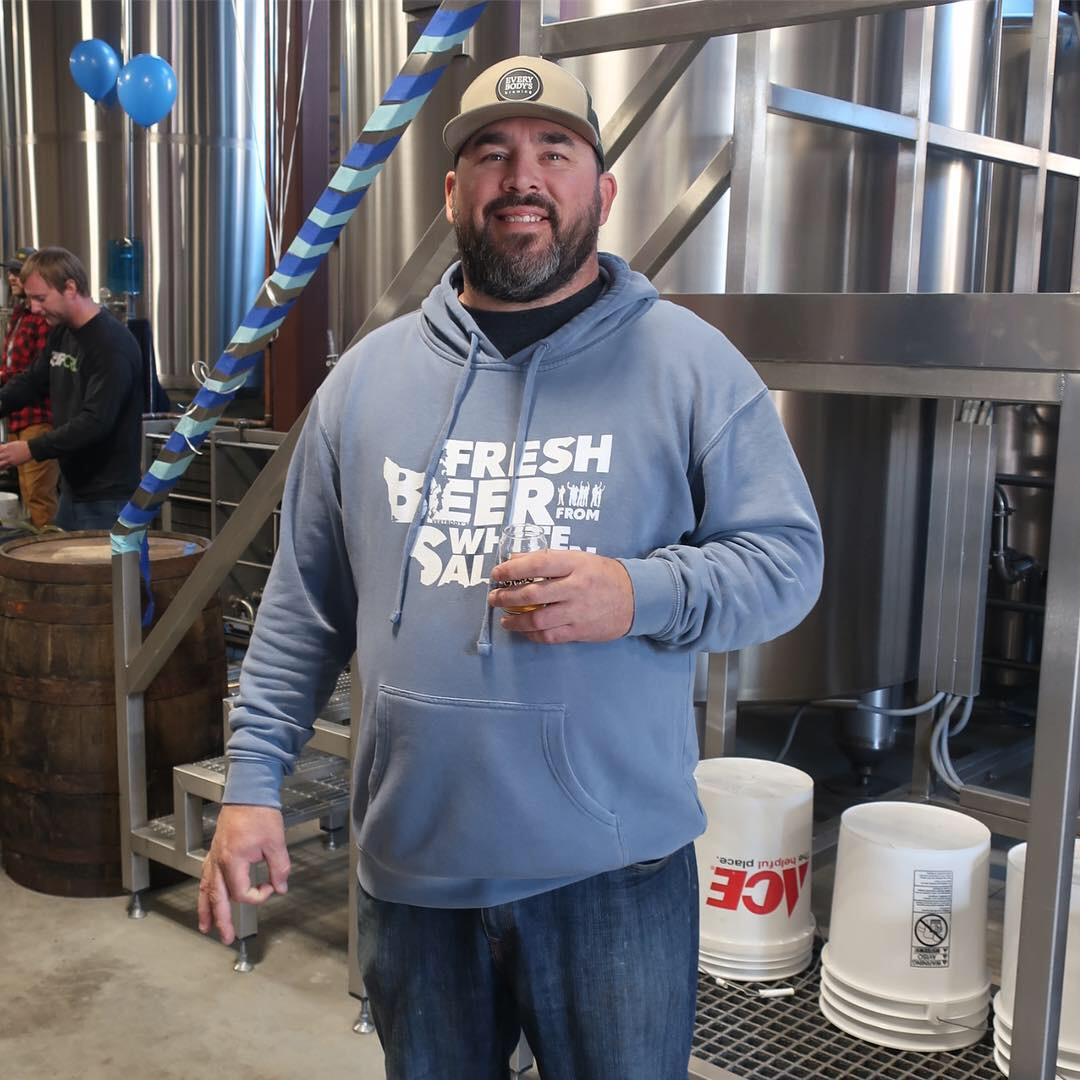 Doug Ellenberger from Everybody's Brewing at the 2018 Local Love Fest.