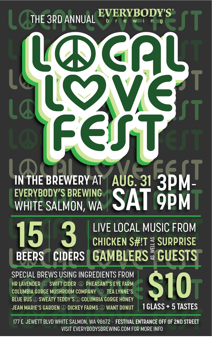 Everybody's Brewing Local Love Fest 2019 Poster