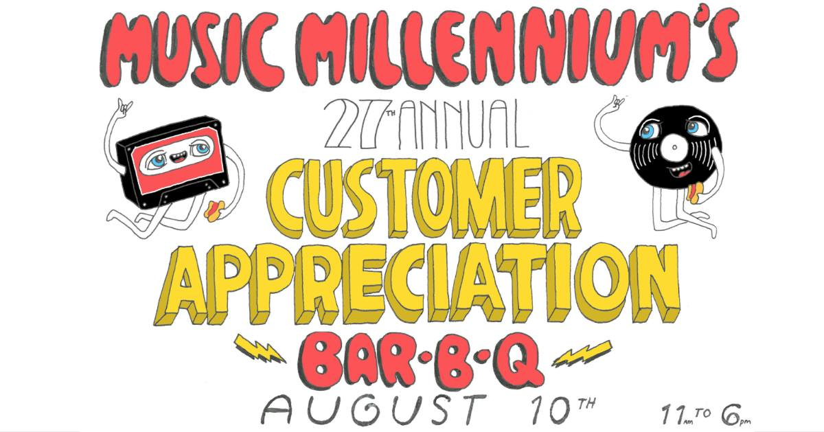 Music Millennium's 27th Annual Customer Appreciation Bar-B-Q - August 10, 2019