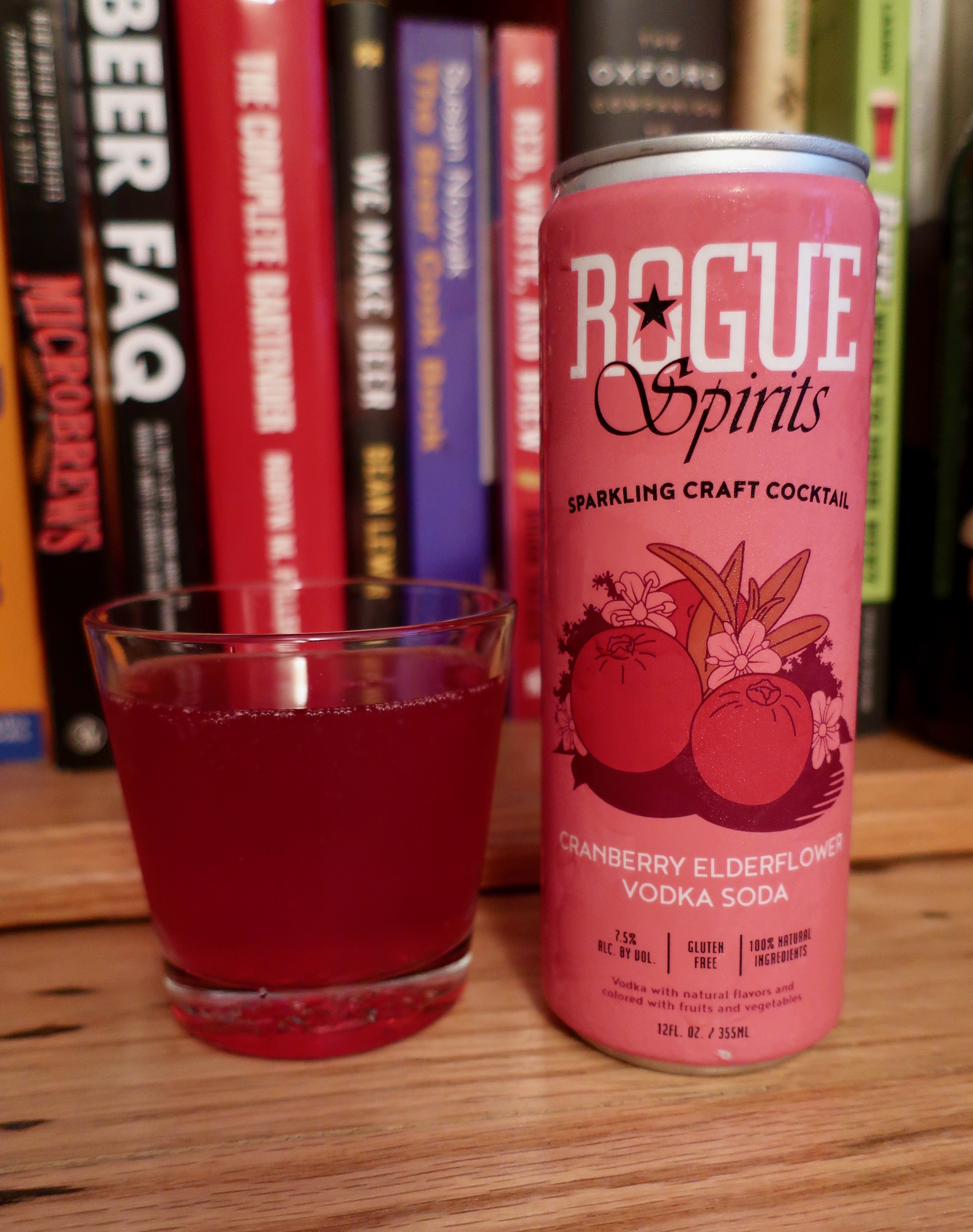 Cranberry Elderflower Vodka Soda, part of the new series of Rogue Canned Cocktails